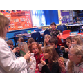 Hot chocolate and a guest story teller in Class 3
