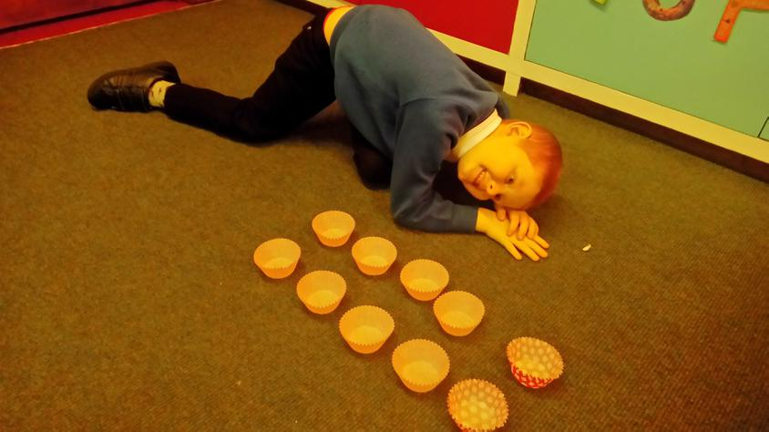 Counting in 5s.