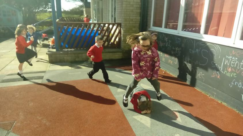 Leapfrog reading... Class 1 have all of the fun!
