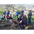 Staff learn how to use Forest School