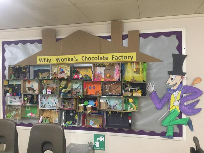 yr 3 Willy Wonka's Choclate factory inventing rooms.JPG