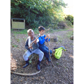 Forest school making stone age tools (2).JPG