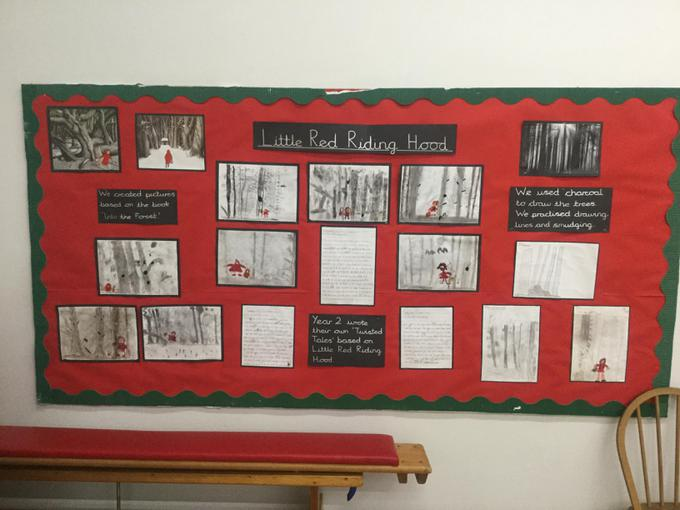 Year 2 Charcoal twisted tales art for red riding hood.JPG