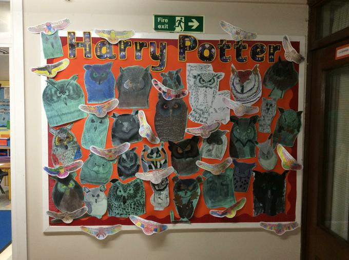 Yr 5 Harry Potter Owls projects.JPG