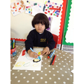 Colouring and making our own marks on paper