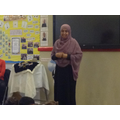 Ms Choudry representing the Islamic faith