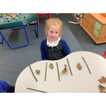 Repeating patterns with natural objects.