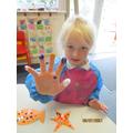 Sea creature finger painting!
