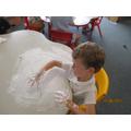 Shaving foam fun!
