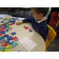 Finding letters of our names.