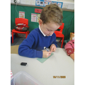 Writing bus tickets.