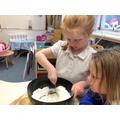 Making salt dough.