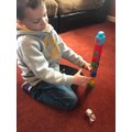 Building towers dice game.