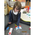 """*I've made a butterfly with rectangles, triangle and rhombuses!"""""""