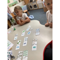 Matching objects to digits.