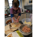 Making fish cakes!