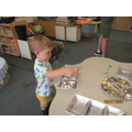 Sorting keys with magnets.