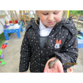 Making friends with a snail!