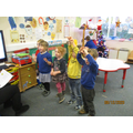 Practising our Christmas songs.