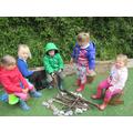 We built a campfire!
