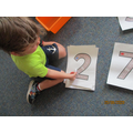Recognising numbers.