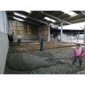 Laying concrete!