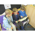 Reading to each other.