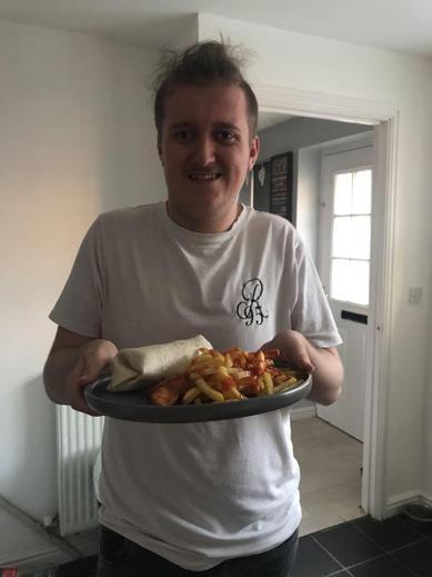 Jordan cooking his favourites