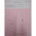 Tia's beautiful drawing of her as a witch