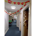 Our decorations along the corridor