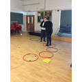 A competitive team game, great for small children