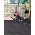 Molly on the tarzan swing