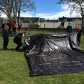 Students designed their own shelters and then created them on the school field