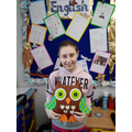 Tia really enjoyed making a class owl.