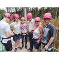 Team Wollaton ready for the zip line!
