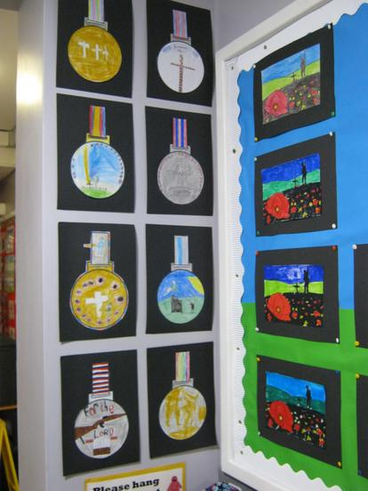 We designed our own war medals.