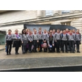 The P7 class, pictured outside the Ulster Museum.