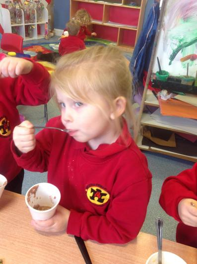 We all liked the chocolate flavour porridge.