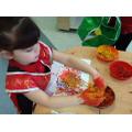 Spaghetti painting - jackson Pollock style!