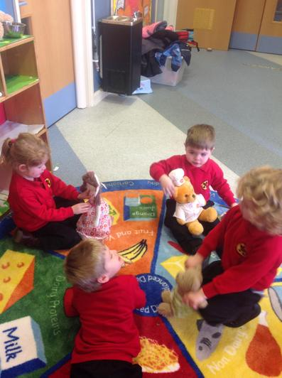 Then we played with our Goldilocks toys.