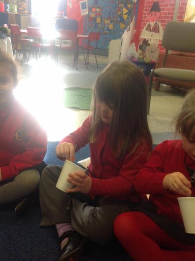 We tasted lots of different flavour porridge.