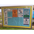 Our noticeboard in the parent waiting area
