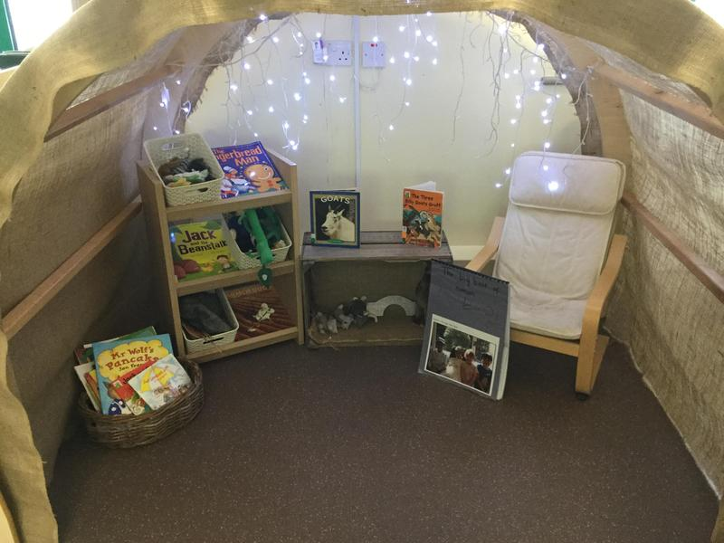 A quiet space for children to sit, chat and share books together