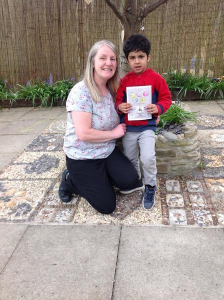 Green Nursery's first 'star reader' special award