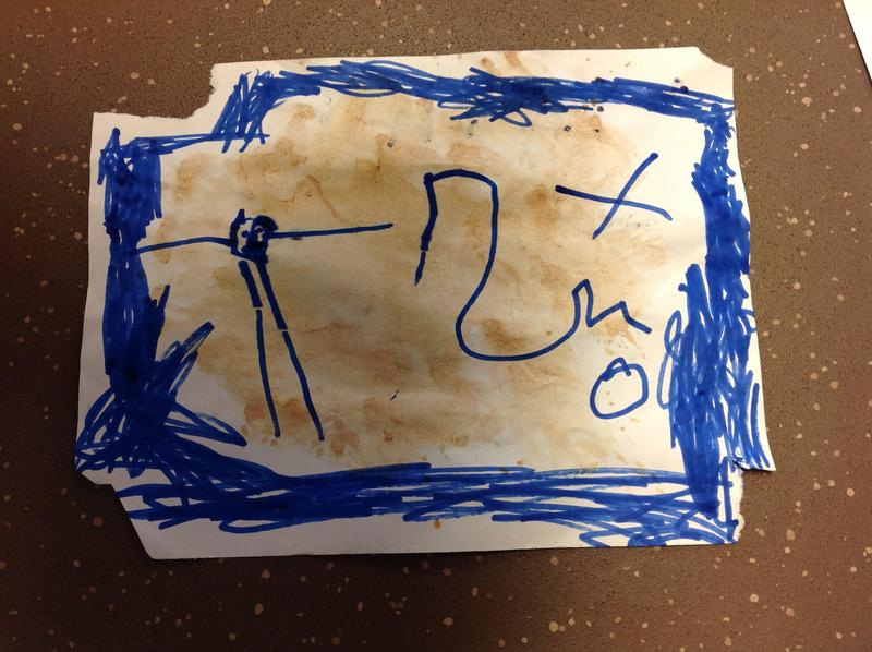 """""""This is the pirate man and his arms, this is the trail and the treasure"""" Adam"""