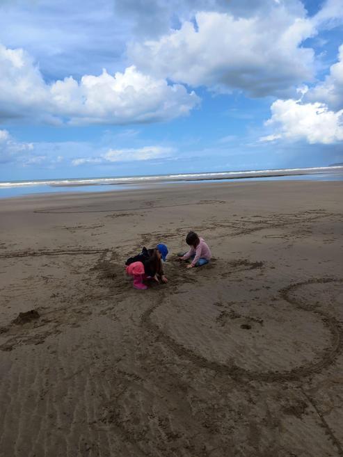 Loving the sand....