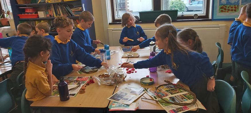 We had lots of lovely Christmas crafts to do!