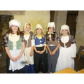 First we dressed as poor Tudor children