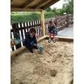 Digging in the sandpit