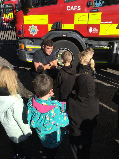 We asked the firefighters lots of questions!
